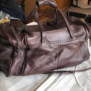 Brown Leather Overnight Satchel